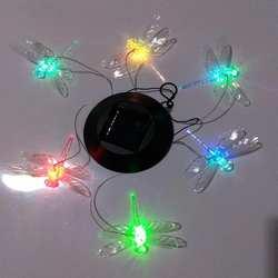 LumiParty светодиодный Солнечный ветер светящиеся колокольчики изменение цвета Подвеска стрекоза колокольчик Солнечный мобильный