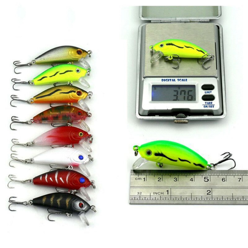 43 Pcs Mixed Fishing Lure Set Artificial Fishing Lure Kit Wobblers Minnow Crankbait Fishing Strongly Fishing Hard Bait New 30pcs set fishing lure kit hard spoon metal frog minnow jig head fishing artificial baits tackle accessories