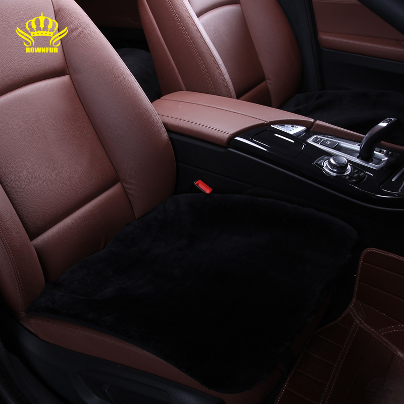цена на 1pc square seat cover for car Universal size fake fur on the seat covers is very mild winter warm summer is not hot selling 2016