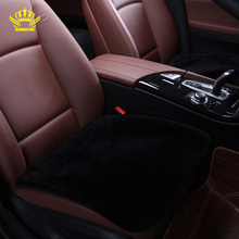 1pc square seat cover for car Universal size fake fur on the seat covers is very mild winter warm summer is not hot selling 2016
