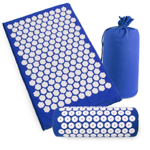 Exercise Mat Fitness Acupressure Massage Pillow Set eco-friendly Yoga Mats Pain Lotus Shape Acupressure Relieve Stress Yoga Mat