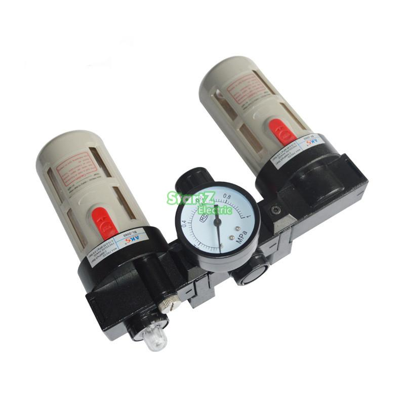 BC3000 G3/8'' Air Source Treatment Unit Pneumatic Lubricator+Filter+Regulator air unit pneumatic source treatment g1 4 afc2000