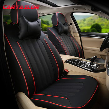 CARTAILOR Car Seat Cover Cowhide & Artificial Leather Styling for Chevrolet Cruze Seat Covers Cars Accessories Set Black Seats