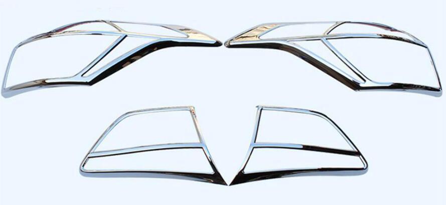 For Hyundai Creta ix25 Cantus 2014-2016 2*Chrome Rear Fog Light Lamp Cover Trim