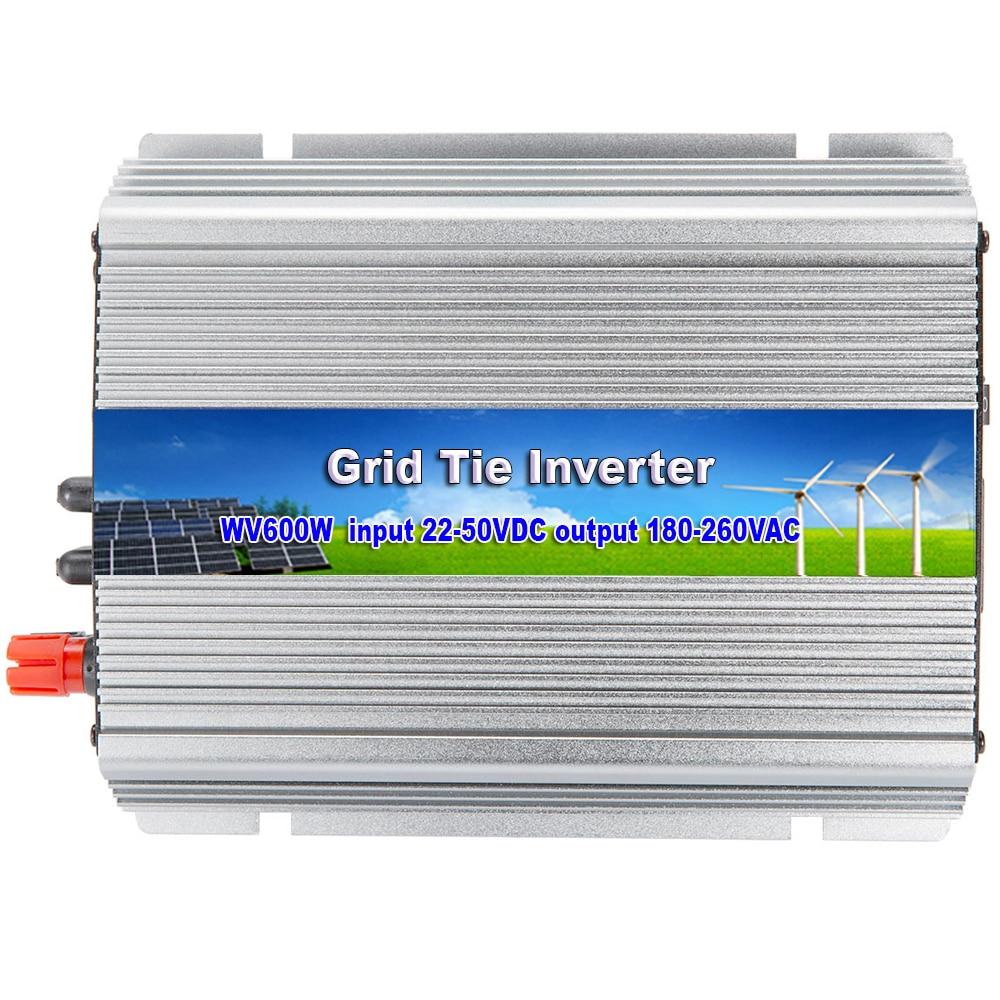 MAYLAR@ 22-50VDC,600W On Grid Pure Sine Wave Power Inverter with MPPT Function,Output 220V/230V/240VAC,50Hz/60Hz solar power on grid tie mini 300w inverter with mppt funciton dc 10 8 30v input to ac output no extra shipping fee