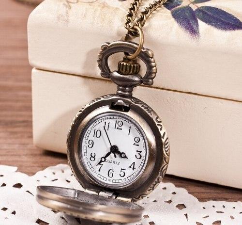 YCYC!5*Key Rabbit Small Hollow Pocket Watch Sweater Necklace Watch