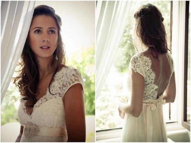 Us 7565 15 Offcharming V Neck Cap Sleeve Beach Wedding Dress Open Back Lace Chiffon Skirt Bridal Gown Custom Made In Wedding Dresses From Weddings