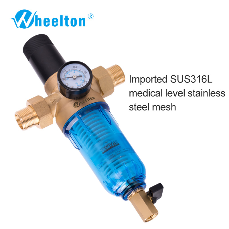 Prefilter water filter First step of water purifier system 59 brass 70micron stainless steel mesh prefiltro Freeshipping