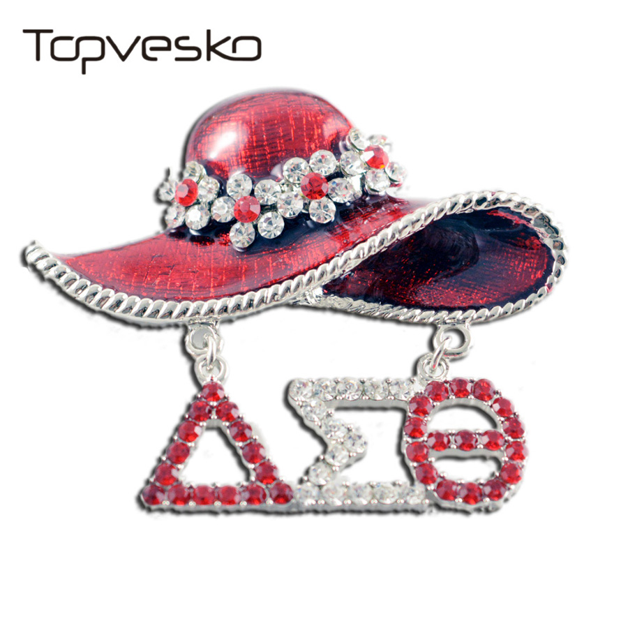 Drop shipping Greek Theme Letters DST Sorority Hat Lapel Pin brooch Jewelry Delta Sigma Theta Pin