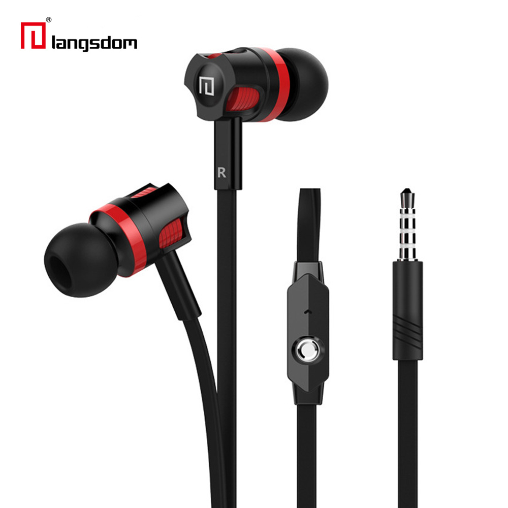 Langsdom JM26 Stereo Earphones 3.5MM Headphone headsets Super Bass sound With Mic For Mobile Phone