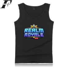 LUCKYFRIDAYF Realm Royale Tank Tops Hot Survival Game Print Summer Sleeveless Regular Style Men/Women Casual Clothes Plus Size цена