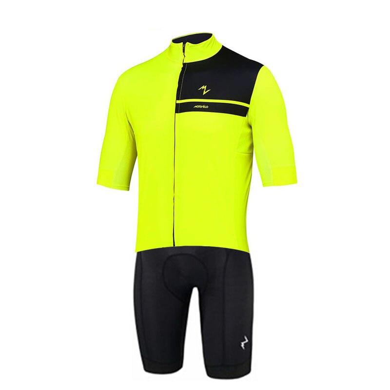 2019 pro team MORVELO Cycling skinsuit one piece Short sleeve summer bodysuit bike clothing MTB Ropa Ciclismo speedsuit