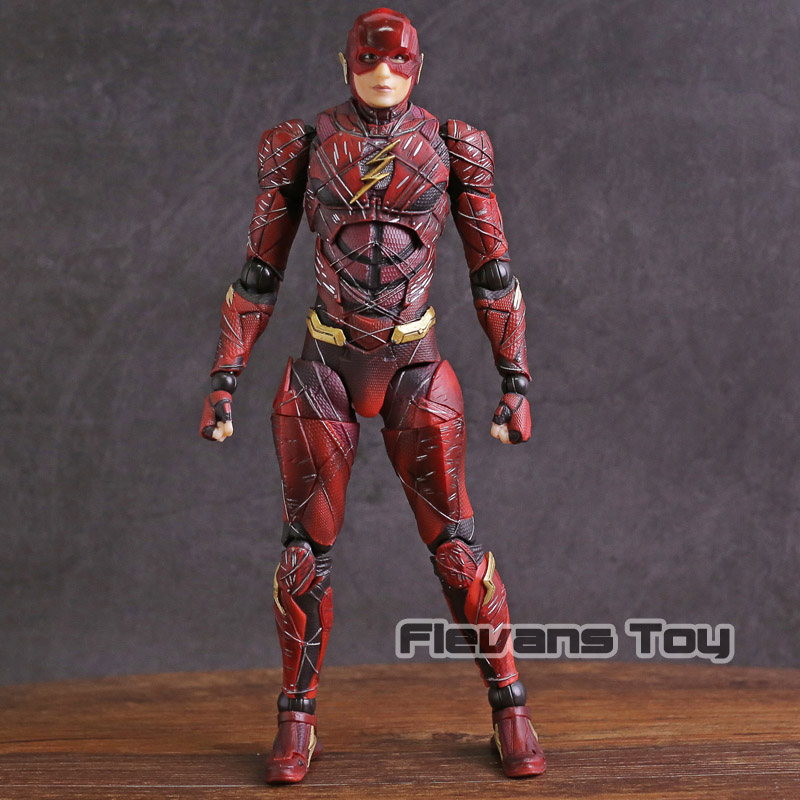 Play Arts Kai Justice League NO.2 The Flash PVC Action Figure Collectible Model Toy elsadou 26cm play arts pa justice league the flash action figure toy doll collection