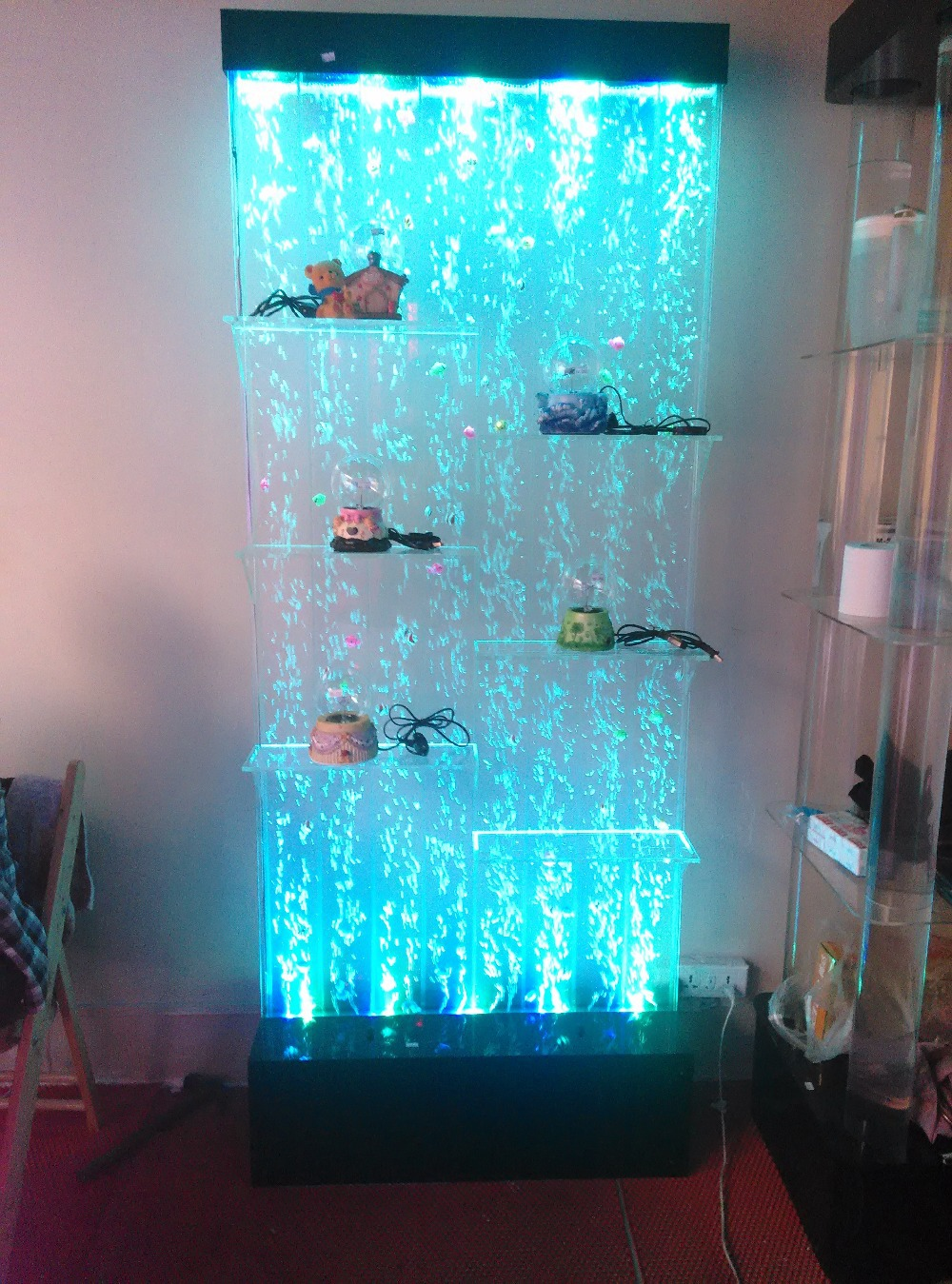 Dancing Water/water Curtain Wall/screen Screen Water Column Lamp / Water  Dance Bubble Wall Lamp/shoe/wine/partition In Wine Racks From Home U0026 Garden  On ...