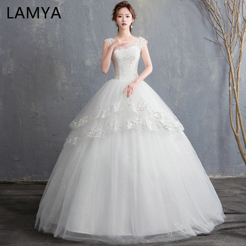 LAMYA Custom Made Princess Backless Wedding Dress 2019 New Arrived Lace ... 65425b05aca8