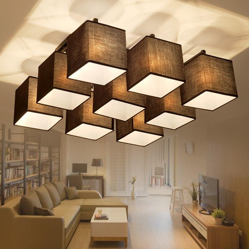 Fabric cloth led ceiling light Atmosphere modern living room lamp ...