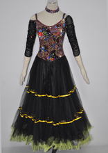 Standard Ballroom Waltz Dress Elegant Adult Tango Flamenco Dancing Costume Women's Competition Ballroom Dance Dresses