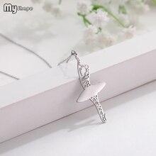 купить My Shape Eco-friendly Stainless Steel Dancing Girl Geometric Pendant Personalized Necklace дешево
