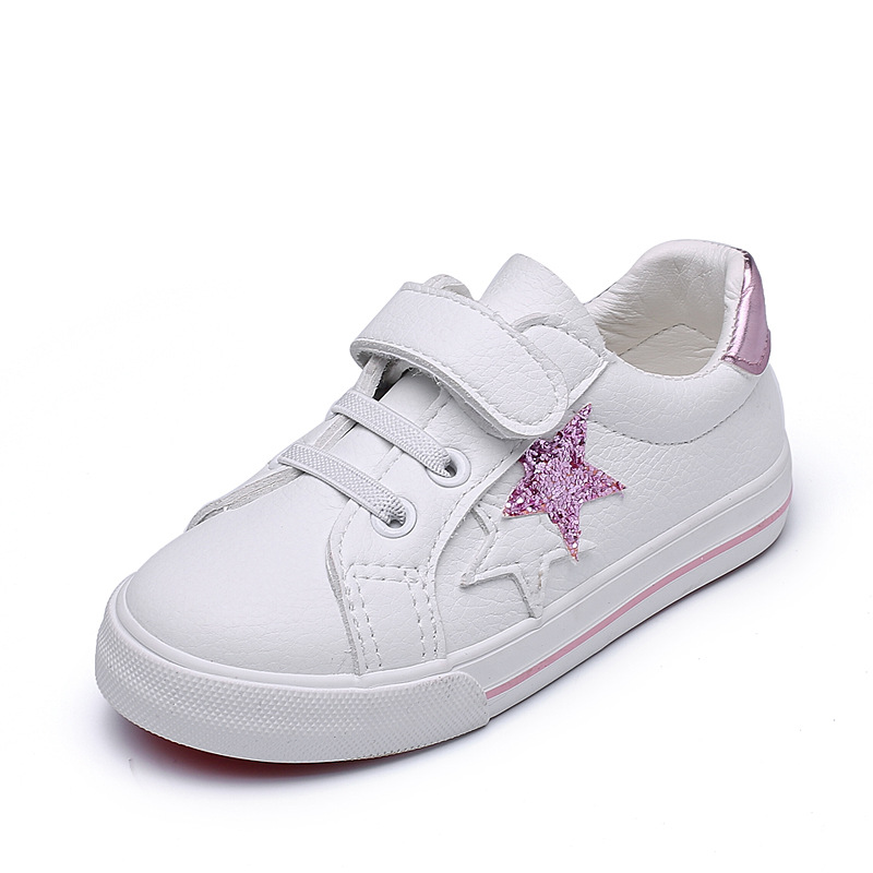 A Dream Shoes Children's Casula Shoes 2019 Spring Girls Boys Breathable White Children Skateboarding Shoes Kids Fashion Sneakers