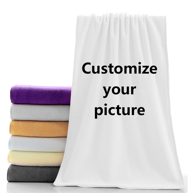 Bath Towel Size In Microfiber Towels Custom Face Towelbath Towel Size 35x75cm 70x140cm For Family Travel 35x75cm