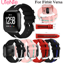 Frontier classic silicone Replacement Sport Wristband accessories strap for Fitbit Versa smart watch bracelet Wrist Watchband