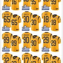 13df0cf4928 2019 Super Rams Bowl Los Angeles Jersey 30 Todd Gurley II 99 Aaron Donald  18 Cooper