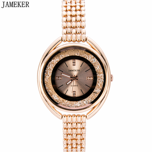 JAMEKER Montres Femmes 2018 Rose Gold Bracelet Watches Women Fashion Wristwatch