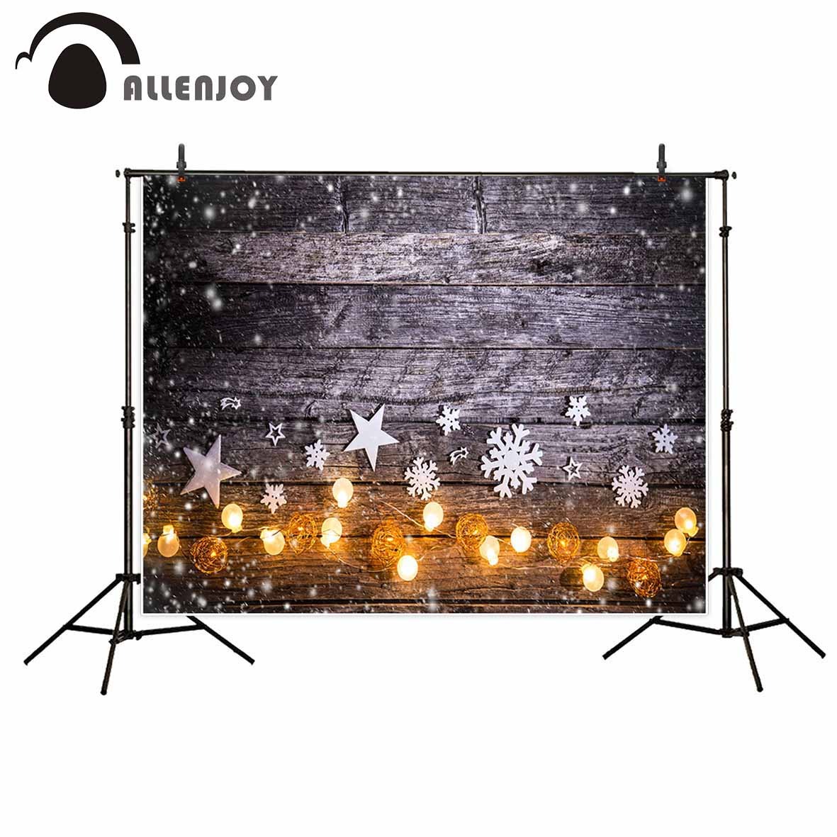 Allenjoy Vinyl material photography Classic retro snowflake lights Christmas children photography backdrops photo studio props allenjoy photography backdrops santa claus snow winter kids vinyl digital printing photo props profession christmas backgrounds