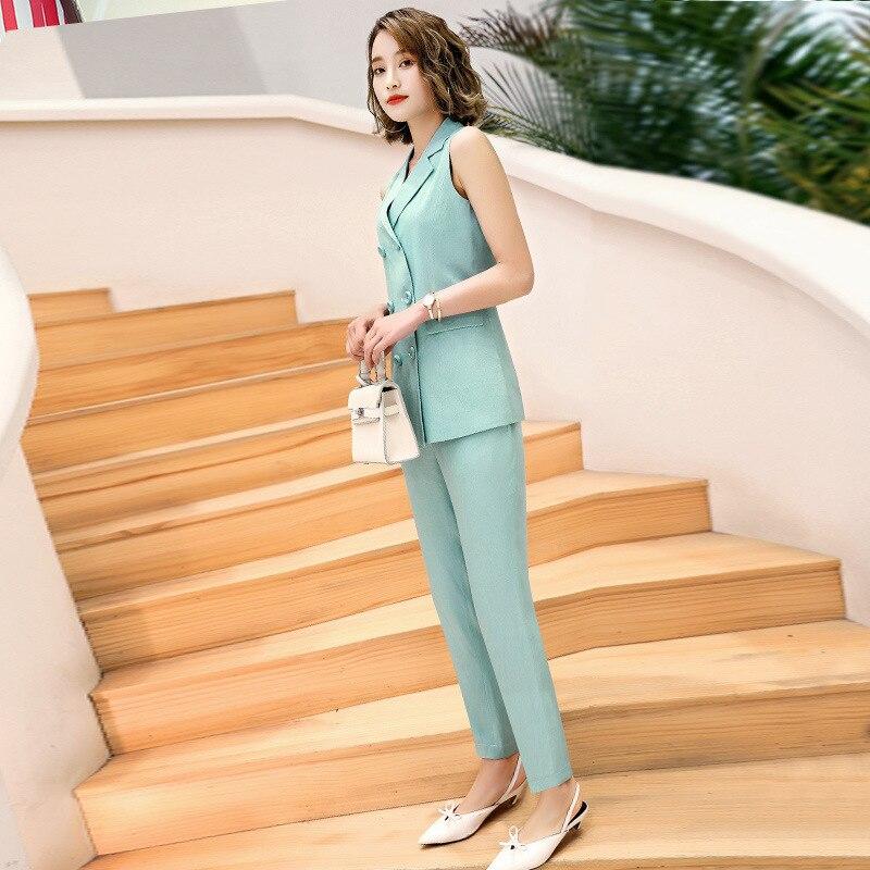 IZICFLY Summer New Style Women Suits With Pants And Coat Slim Business Ensemble Blazer Pantalon Femme Office Work Wear Big Size