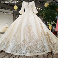 LS01784 wholesale hollow back skirt long sleeves hollow bottom skirt white 2018 newest real design show wedding dress with train