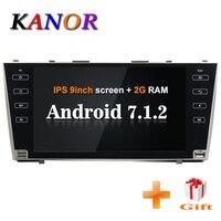 KANOR Android 7,1 2 г 2din автомобильный gps навигацией для Toyota camry 2008 2009 2010 2011 2din автомобильный радиоприемник стерео радио gps satnavi