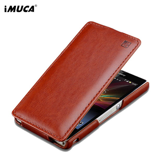 iMUCA Phone Cases for Sony Xperia Z L36H Case Cover Flip Leather Back Cover Case For Sony Xperia Z L36h C6603 C6602 Cover Coque
