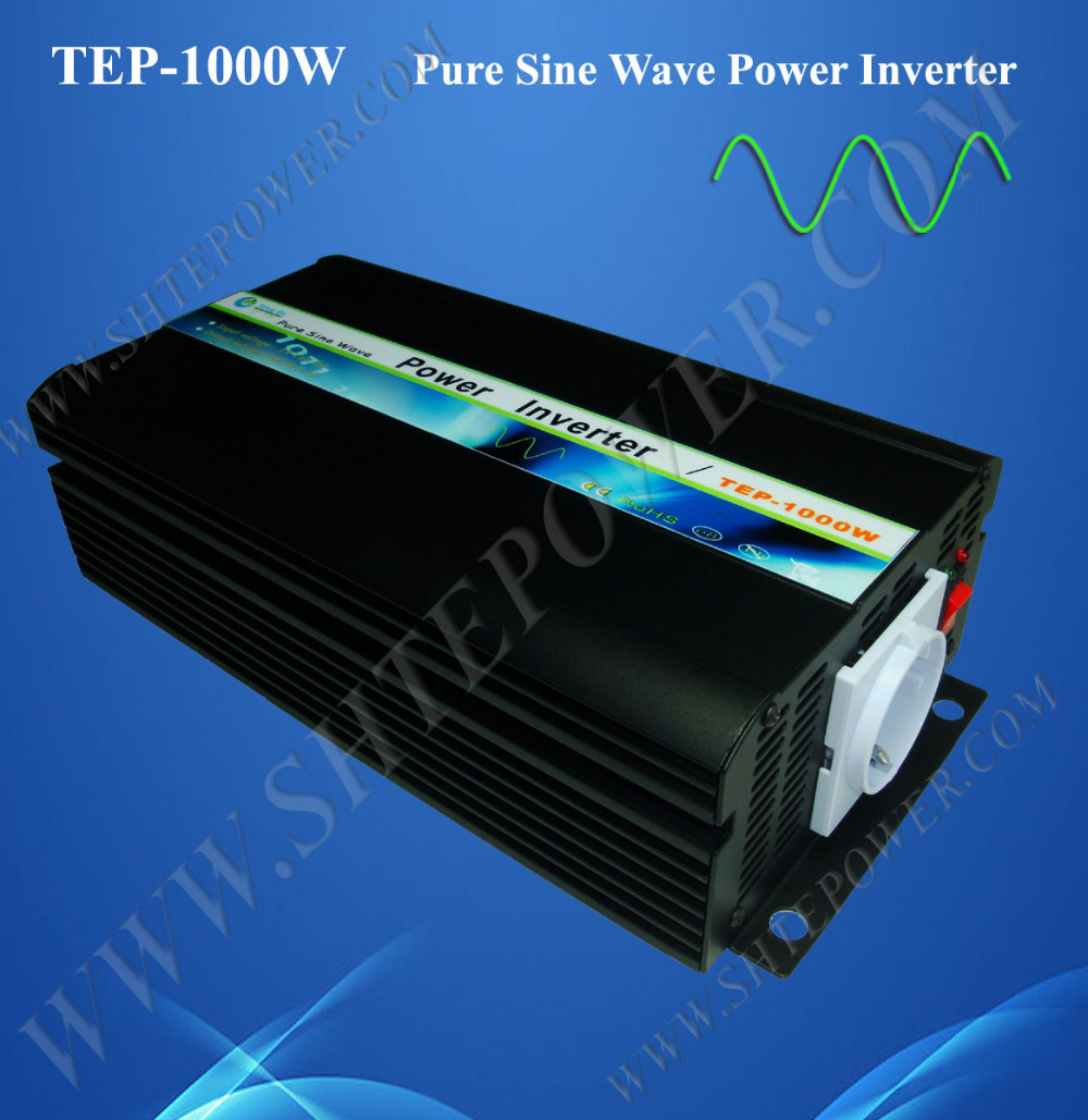цена на Inverter 1000W 12V 230V, 1000W pure sine wave invertor , dc 12v to ac 120v