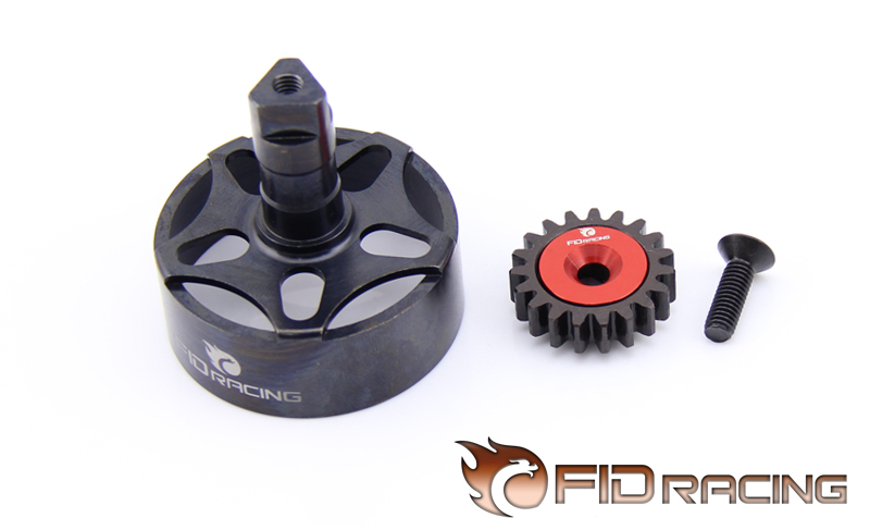 FidRacing 19T Gear and Integral Clutch cup set FOR LOSI 5IVE-T billet rear hub carriers for losi 5ive t