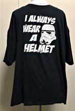 Star Wars Storm Trooper Mens T-Shirt 2X XXL I Always Wear A Helmet Black White Free shipping  Harajuku Tops Fashion Classic cs r2e storm mc1 xxl