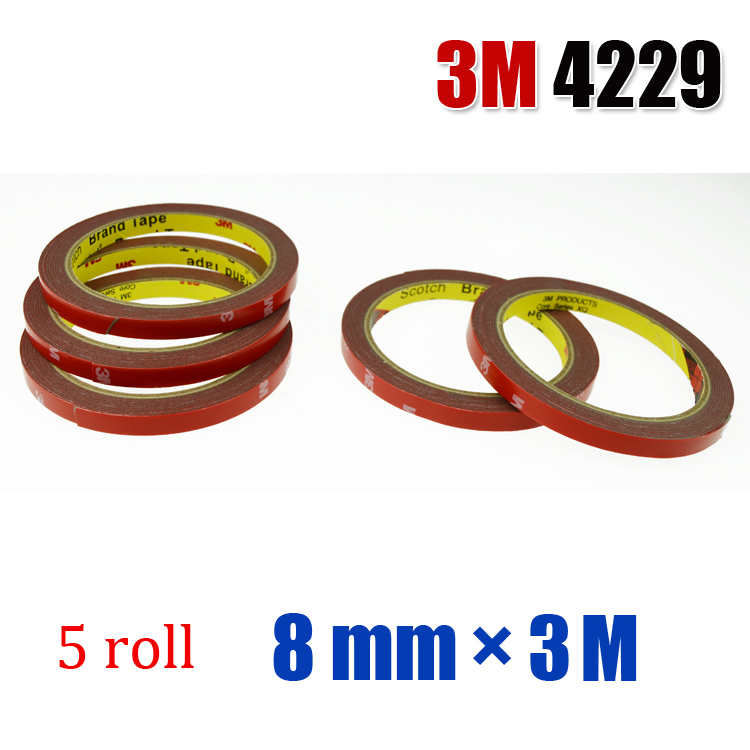 5 roll 3M 4229 Double Side Double sided Acrylic Foam Tape For Auto Truck Car Sticker