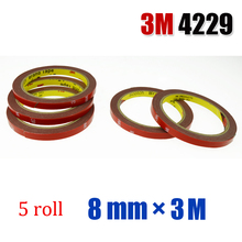 5 roll 3M 4229 Double Side Double-sided Acrylic Foam Tape For Auto Truck Car Sticker Badge Emblem 8mmx3m