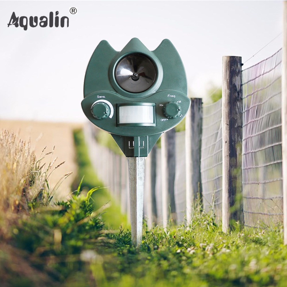 2017 New Arrival Ultrasonic Animal Repeller Dog Cat Repellent Pest Control for Home Garden Lawn 32023
