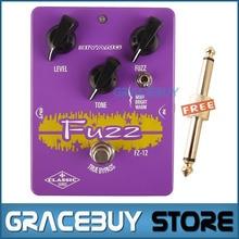 Electric Guitar Pedal True Bypass Effect Custom Purple Biyang Controls Level/ Tone/ Fuzz Guitarra Pedales New Brand