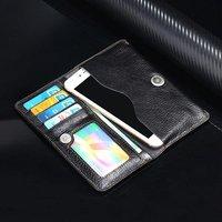 Echt Koe Lederen Telefoon Case Hand Card Wallet POUCH Voor VKworld G1 Giant, Vernee Mars, Ulefone Wenen/Gemini Pro/Parijs Lite