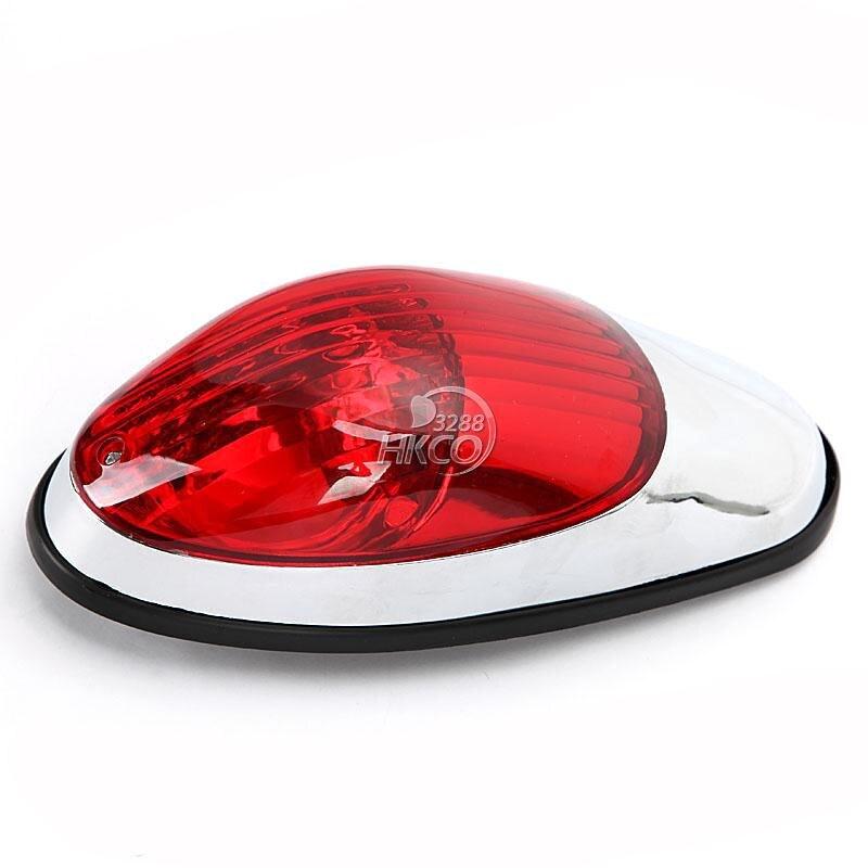 Rouge Moto D'arrêt De Frein de Course Queue Lumière Café Racer Bobber Cruiser Chopper