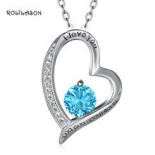 Ожерелье rolilason с подвеской в виде сердца