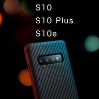 Kevlar Genuine Leather Soft Case Ultra thin All inclusive cover For Samsung Galaxy S10 PLUS S10 S10e S10+ Texture limited