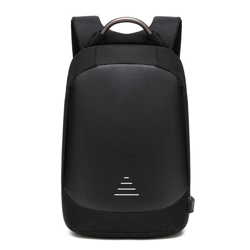 e53a522ffb4d Men Waterproof Anti theft Laptop Backpacks Modernist Look Water Resistant  with USB Charging Port 15.6 Notebook Travel Backpack