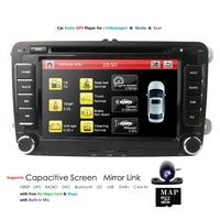 Hizpo Navi Car Dvd Multimedia Stereo Player For Skoda VW Volkswagen Golf Polo Tiguan Touran Passat b7 b6 SEAT Octavia GPS RDS