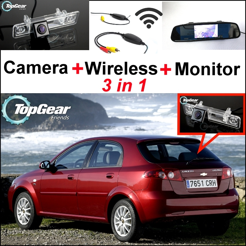 ФОТО 3in1 Special WiFi Camera + Wireless Receiver + Mirror Parking System For Chevy Chevrolet Lacetti Optra Estate Nubira