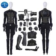 Black Widow Cosplay New Avengers Infinity War Costume Natasha Romanoff Outfit Halloween Costumes For Women Full Set Custom Made