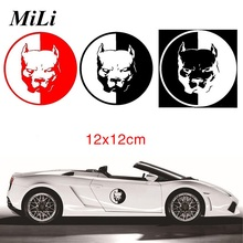 Motorcycle Car Stickers Vicious dog Car Styling Fun Dog Car-styling 12*12CM Fashion Car-stickers ,black/white/red Animal sticker