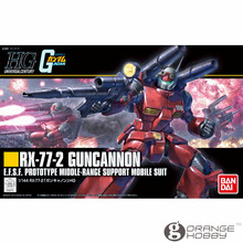 Bandai HGUC 190 1/144 Guncannon RX 77 2 OHS Reviver Mobile Suit Kits Modelo de Montagem