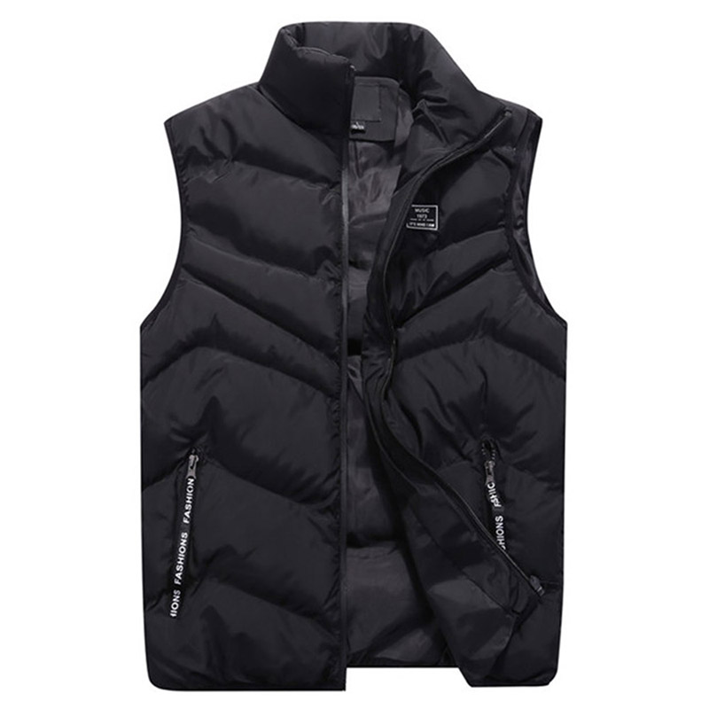 Fashion 2018 Cotton Men Vest For Winter Autumn Outerwear Windbreaker Parka Thick Warm Baggy Sleeveless Jacket Male Waistcoat New-in Vests & Waistcoats from Men's Clothing    3